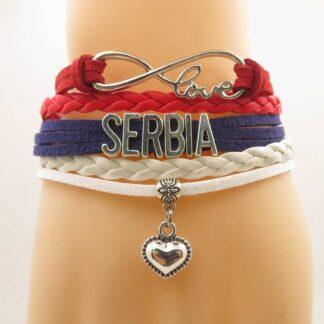 Serbia Bracelet Heart Charm