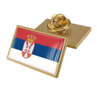 Coat of Arms of Serbia/Serbians Flag National Emblem Brooch/Badges/ Lapel Pins