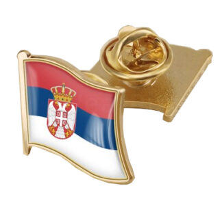 Coat of Arms of Serbia/Serbians Flag National Emblem Brooch/Badges/ Lapel Pins1