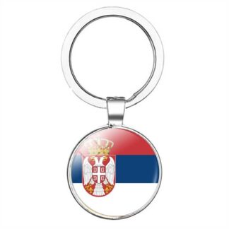 Serbia Country Flag Key Ring