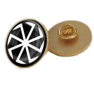Svarogs Slavic Star Symbol Badges Lapel Pin