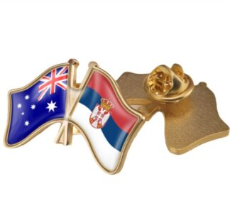 Australia and Serbia Double/Friendship Flags Lapel Pins/Brooch/Badges,